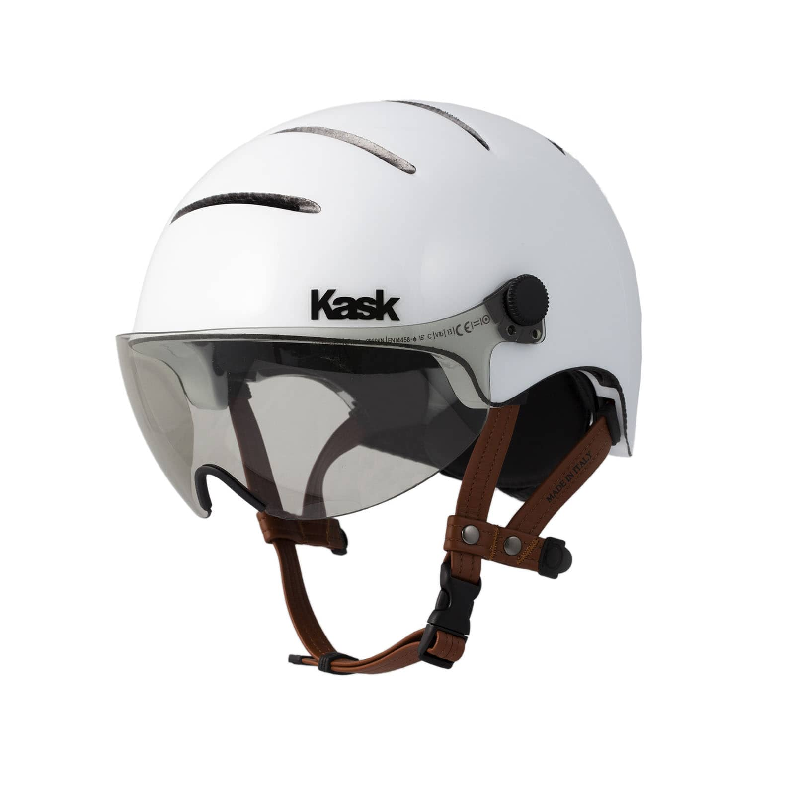 a75e69e432f Urban Cycling Helmet with Leather Straps and Visor - LIFESTYLE ...